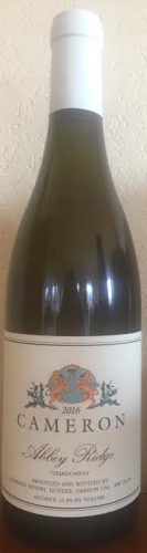 2016 Abbey Ridge Chardonnay label
