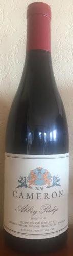 2016 Abbey Ridge Pinot noir label