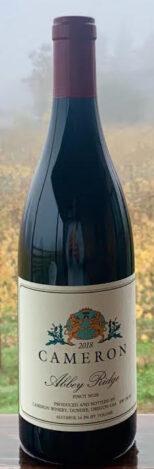 2018 Abbey Ridge Pinot noir label