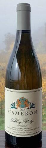 2018 Abbey Ridge Chardonnay label